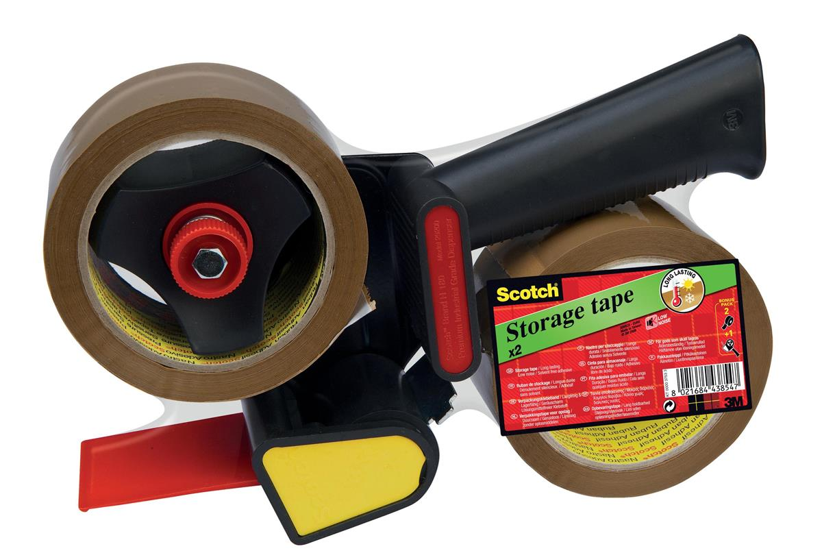 Image for Scotch Tape Dispenser Kit Contains 1xDispenser & 2xRolls 50mmx60m Buff Packaging Tape Ref LN5066R21
