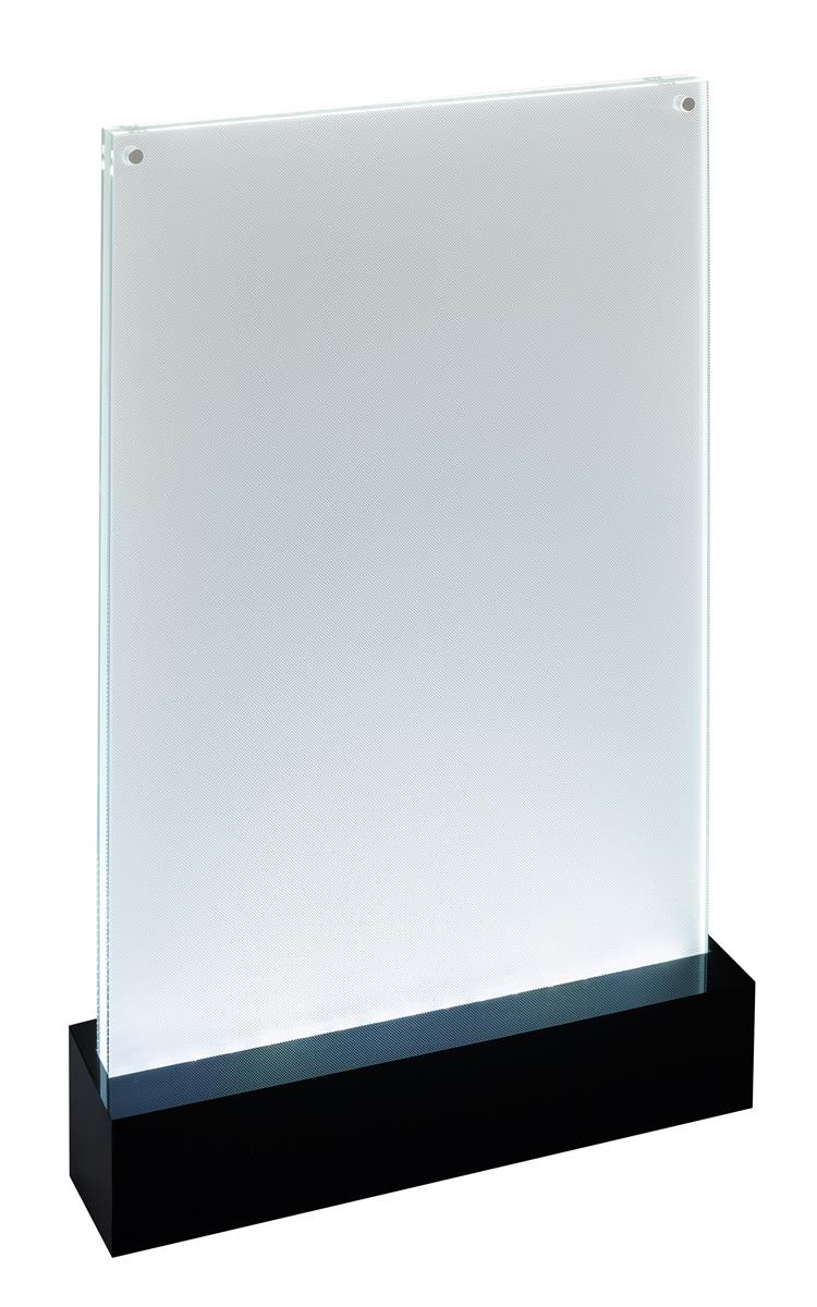 Image for Sigel Table-top Display Frame LED Double-sided Luminous A4 Clear/Black Ref TA420