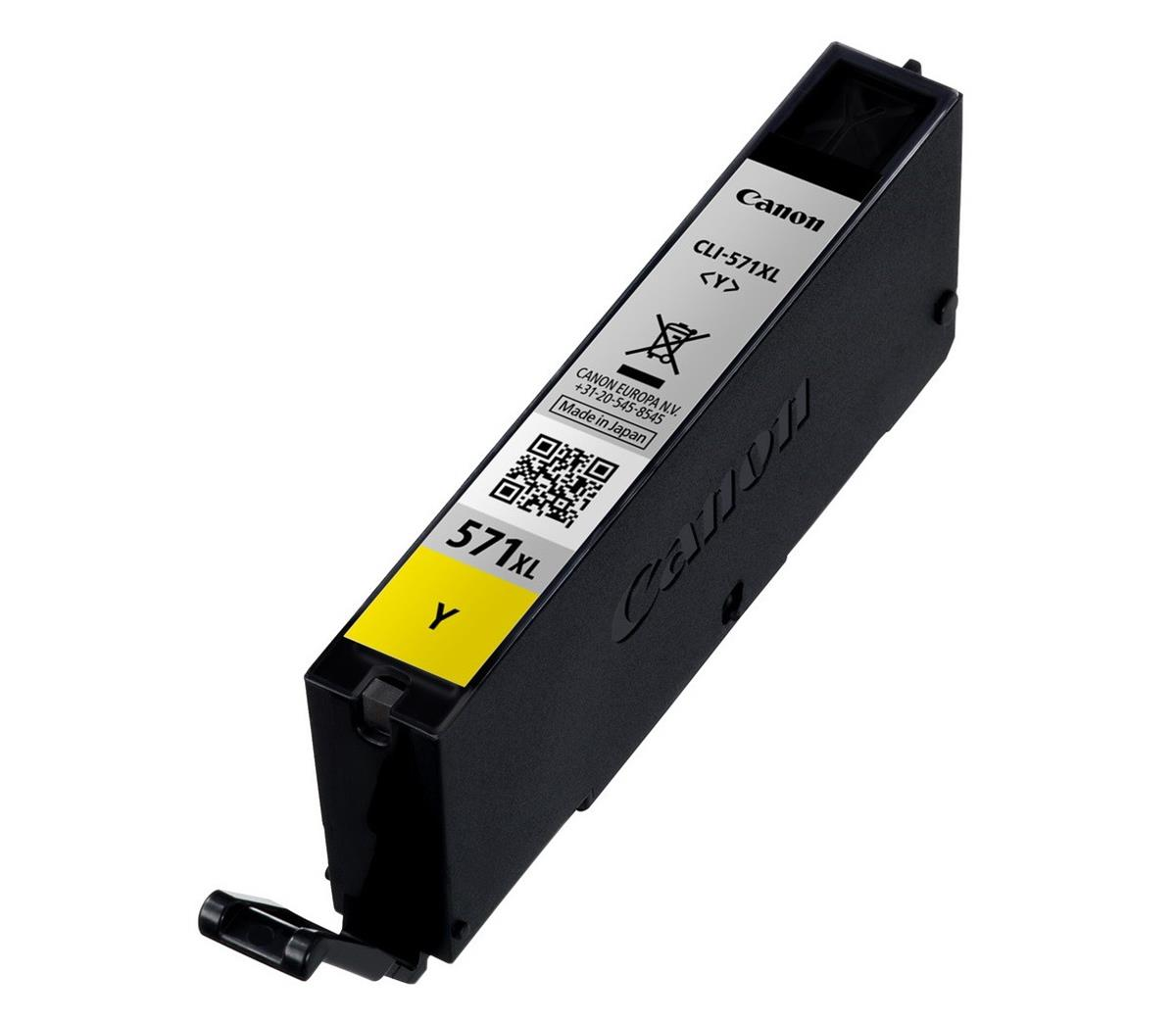 Canon CLI-571XL Ink Cartridge High Yield Page Life 336pp 11ml Yellow Ref 0334C001