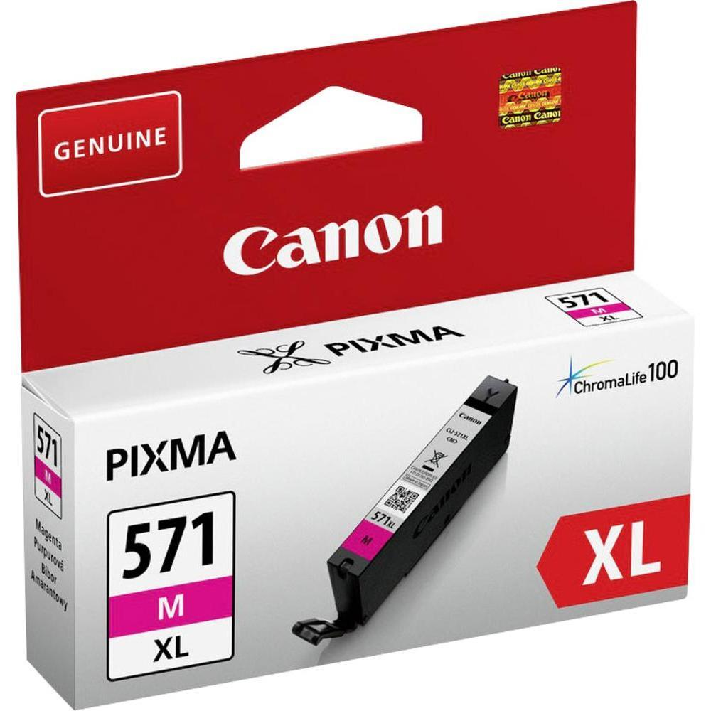 Canon CLI-571XL Ink Cartridge Page Life 400pp 11ml Magenta Ref 0333C001