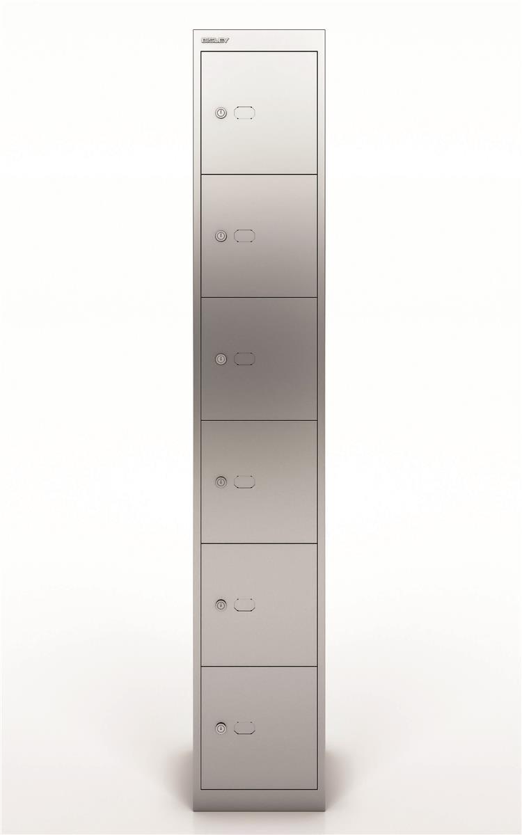 Image for Bisley Steel Locker 305 Six Door Silver