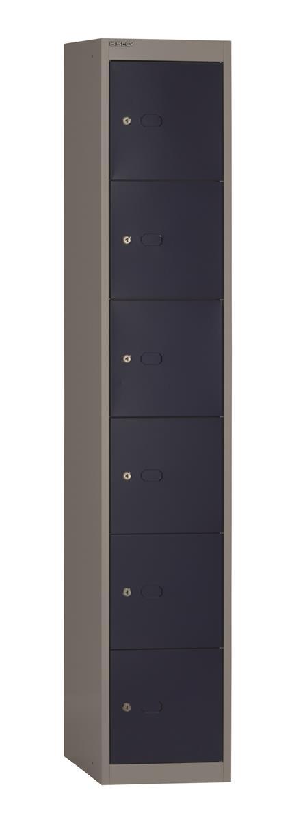 Image for Bisley Steel Locker 305 Six Door Grey/Blue