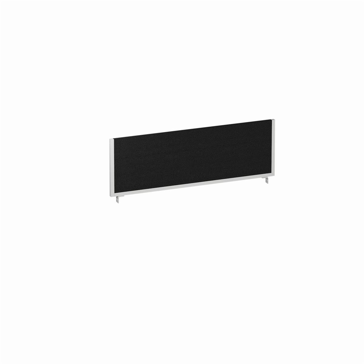 Image for Trexus Desk Screen 1200mm Black with Silver Frame