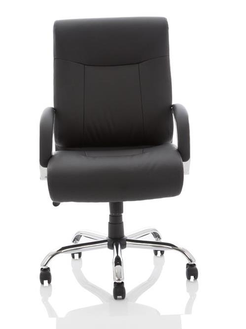 Image for Adroit Executive Chair Fixed Arms Flat Packed Bonded Leather Black