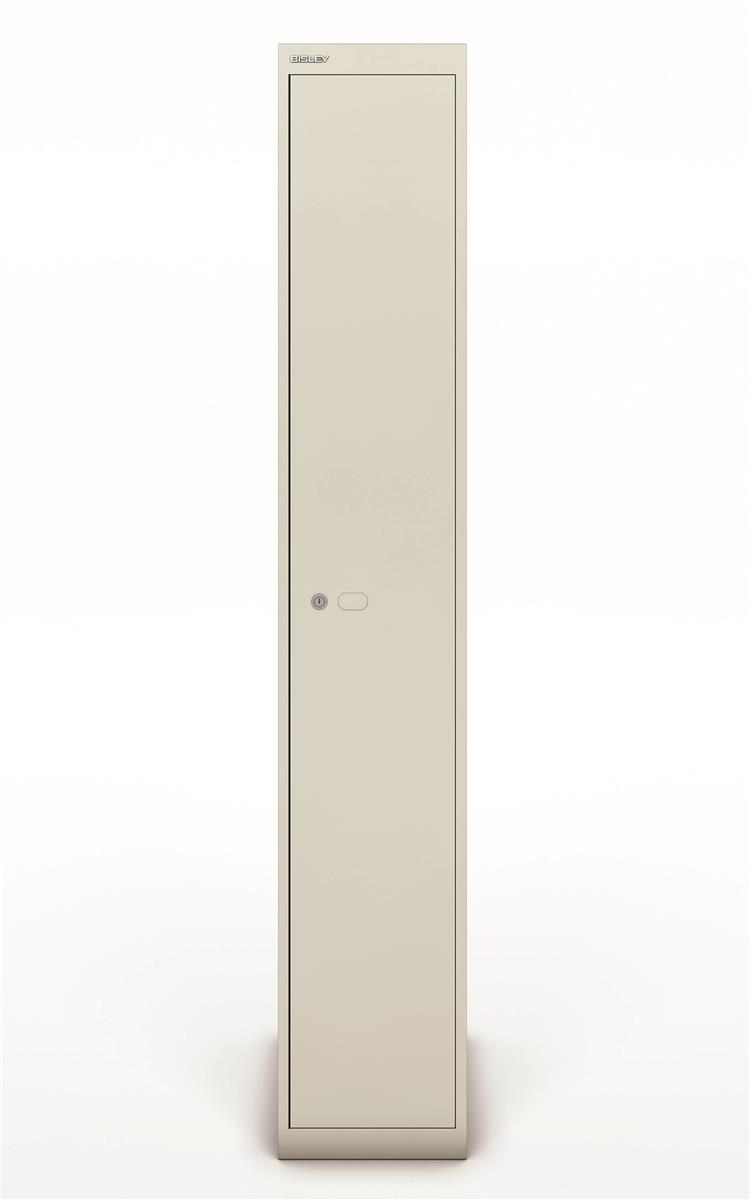 Image for Bisley Steel Locker 457 One Door Goose Grey