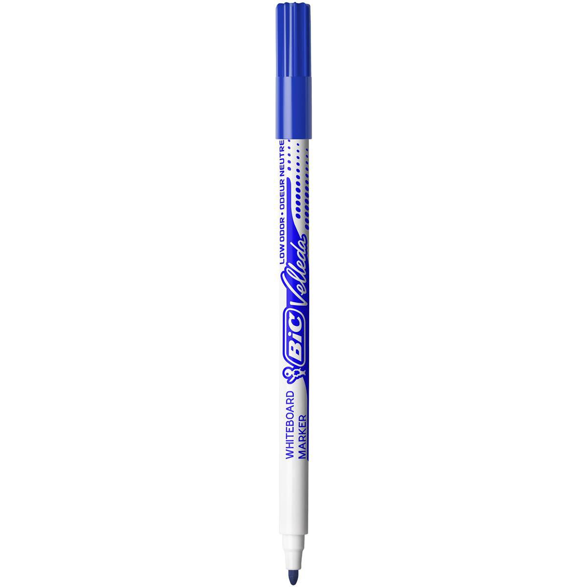 Bic Velleda Marker Whiteboard Dry-wipe 1721 Fine Bullet Tip 1.5mm Line Blue Ref 841841 Pack 24