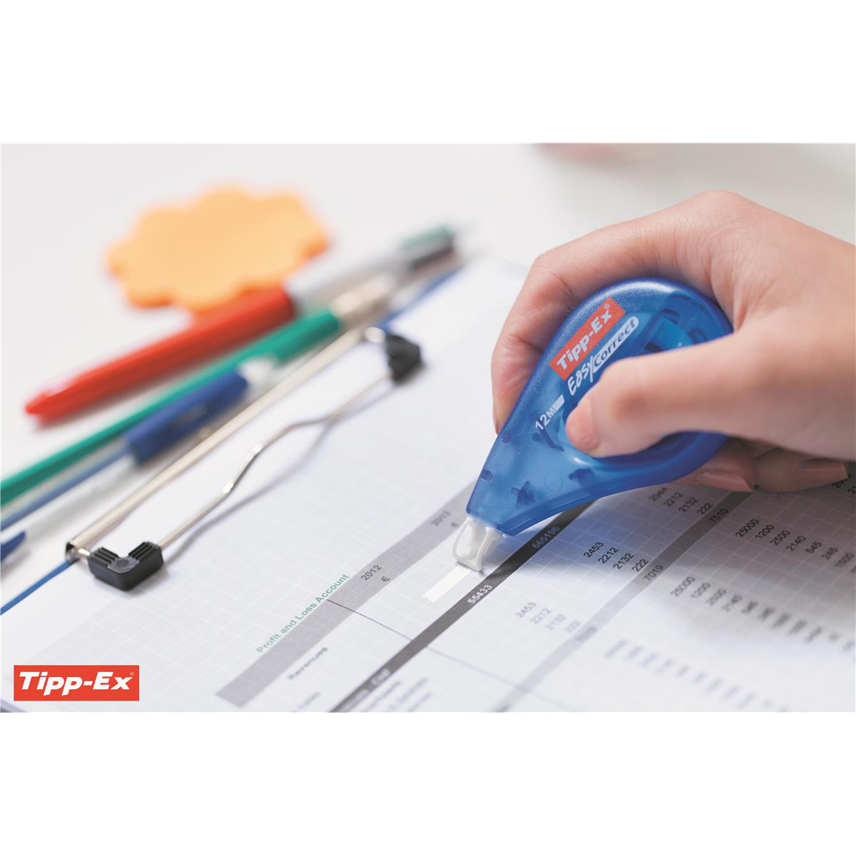 Tipp-Ex Easy-correct Correction Tape Roller 4.2mmx12m Ref 8290352 Pack 10
