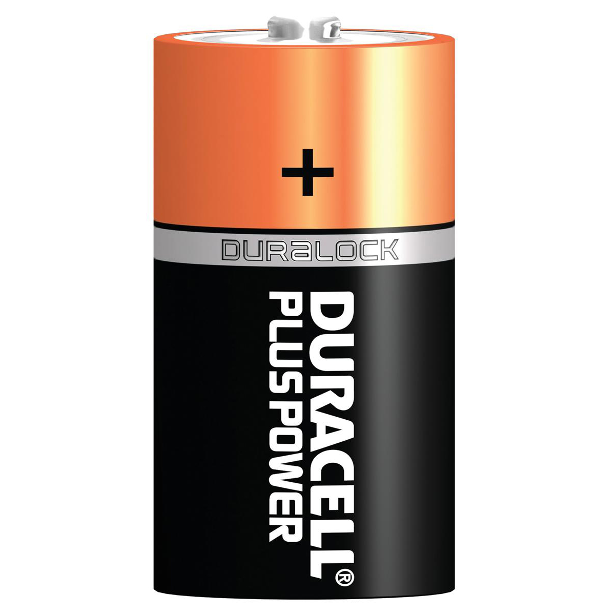 D Duracell Plus Power Battery Alkaline 1.5V D Ref 81275443 Pack 2