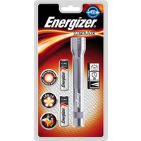Energizer Metal LED Torch 2xAA Batteries FL1 Ref 634041