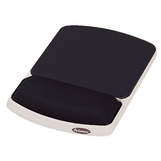 Fellowes Premium Gel Mousepad Wrist Support Graphite Ref 93741