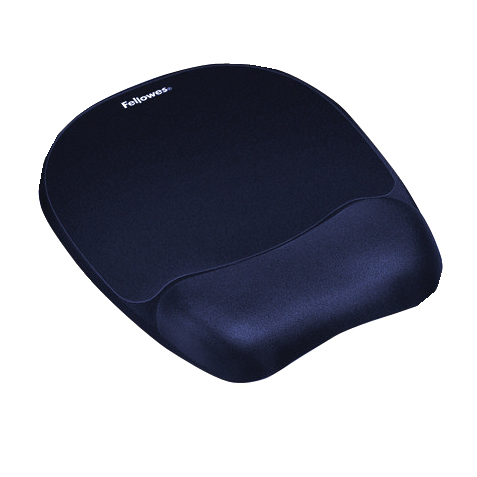 Mouse pads Fellowes Memory Foam Mousepad Wrist Support Blue Ref 9172801