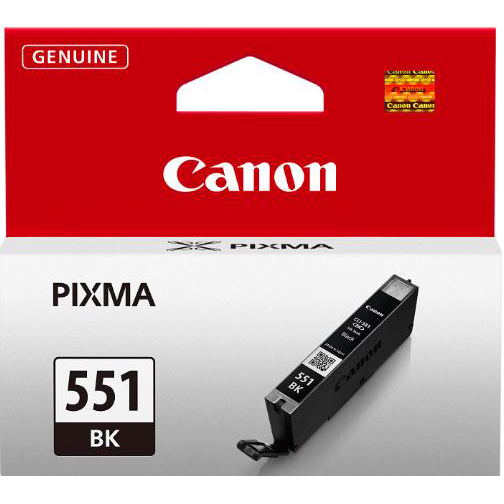 Canon CLI-551BK Inkjet Cartridge 7ml Page Life 495pp Photos Black Ref 6508B001