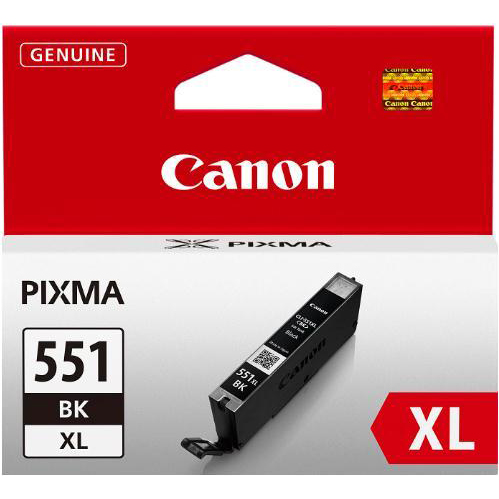 Canon CLI-551XL Inkjet Cartridge High Yield Page Life 1125pp 11ml Black Ref 6443B001