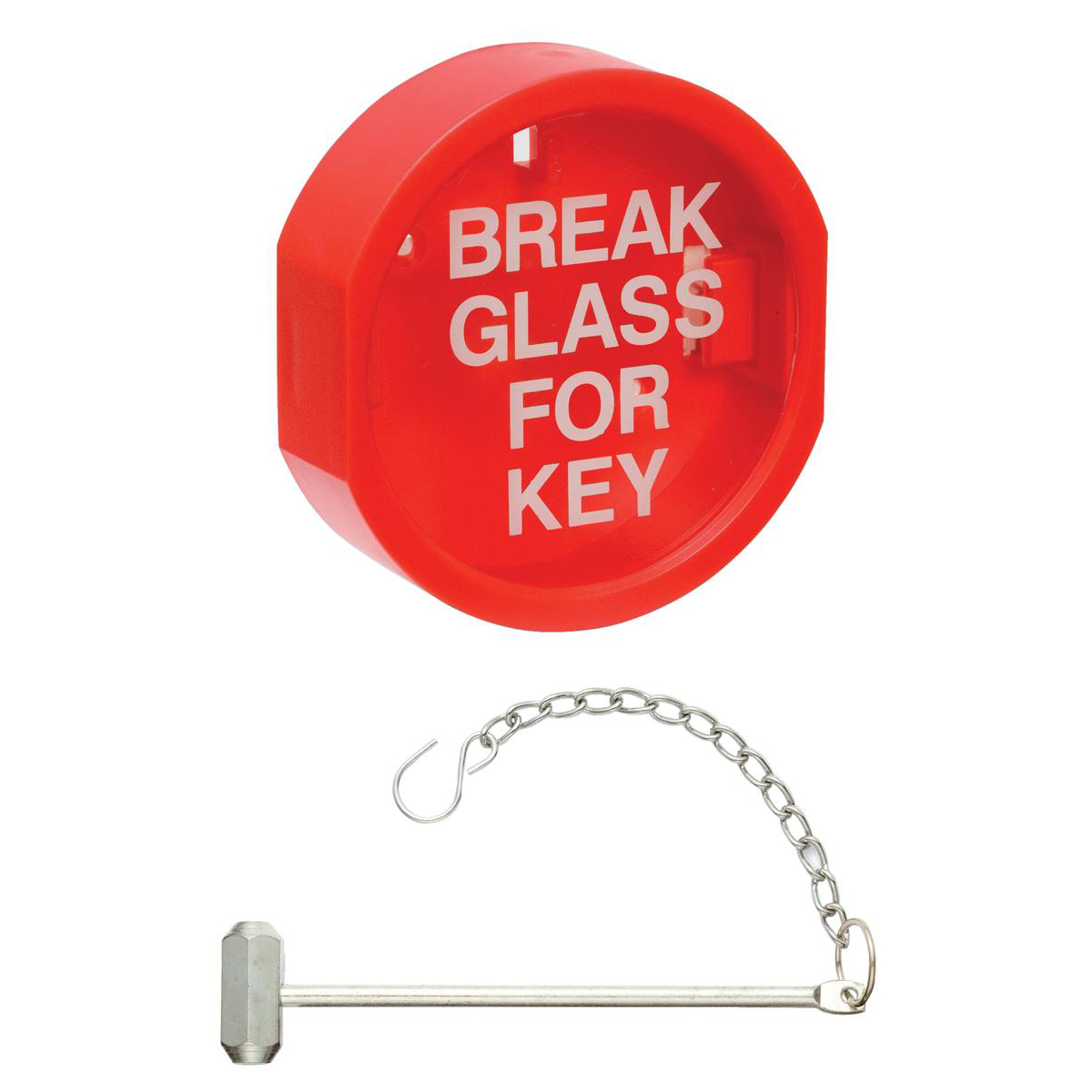 Plastic Front Keybox & Hammer Red Ref WG10234