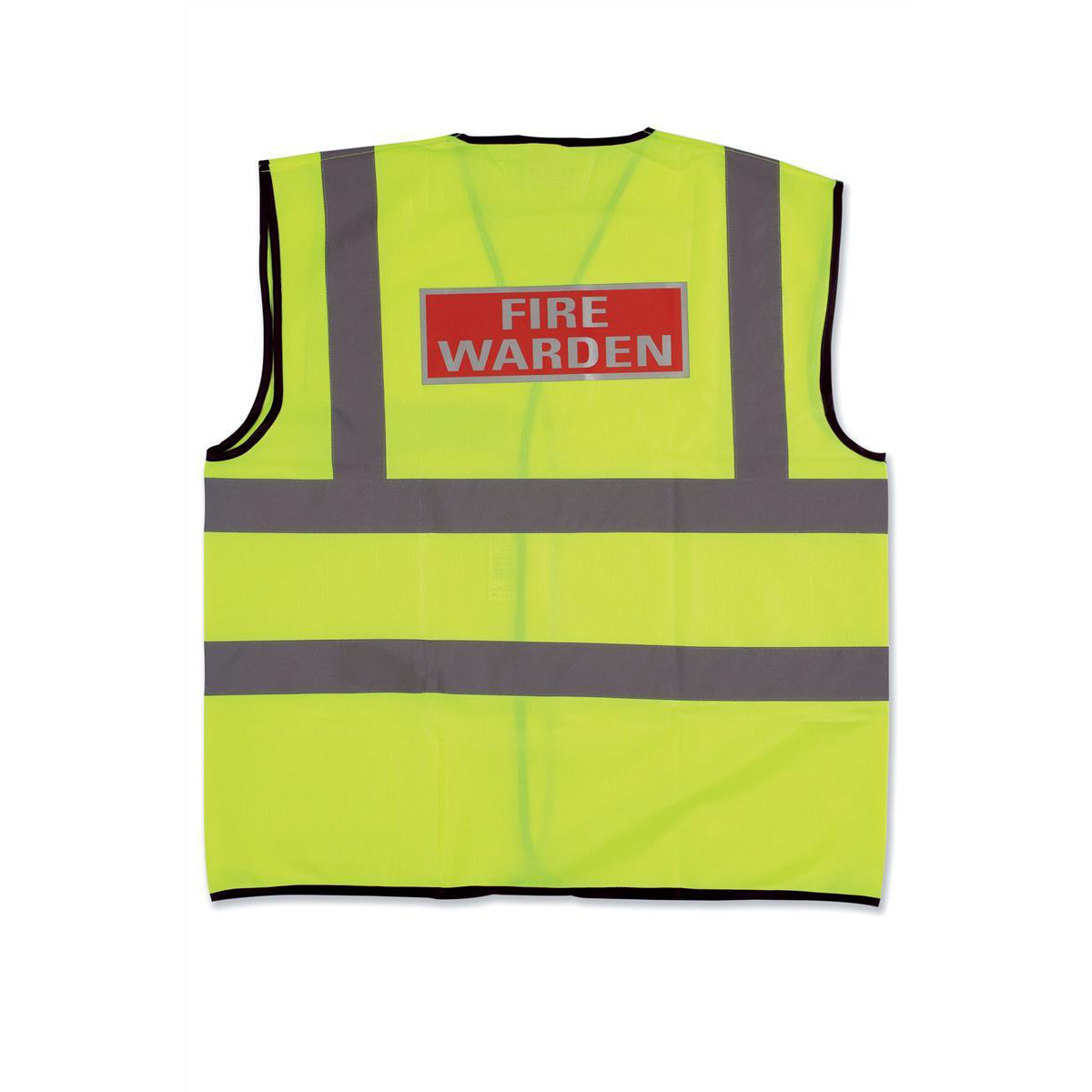 High Visibility Fire Warden Vest High Visibility Yellow Vest Medium Ref WG30108