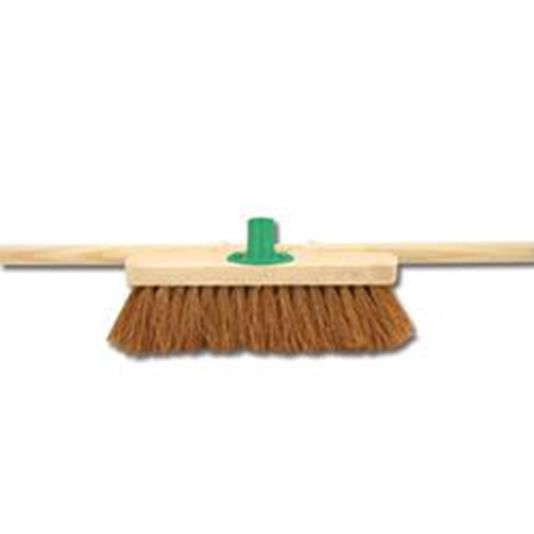 Brushes & Brooms Bentley 24inch Soft Coco Broom with Handle & Bracket Ref SPC/H01BKT/C4