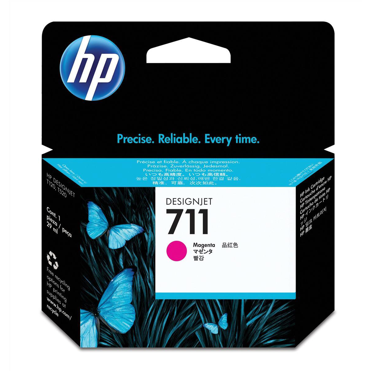 Hewlett Packard [HP] No.711 Inkjet Cartridge 29ml Magenta Ref CZ131A