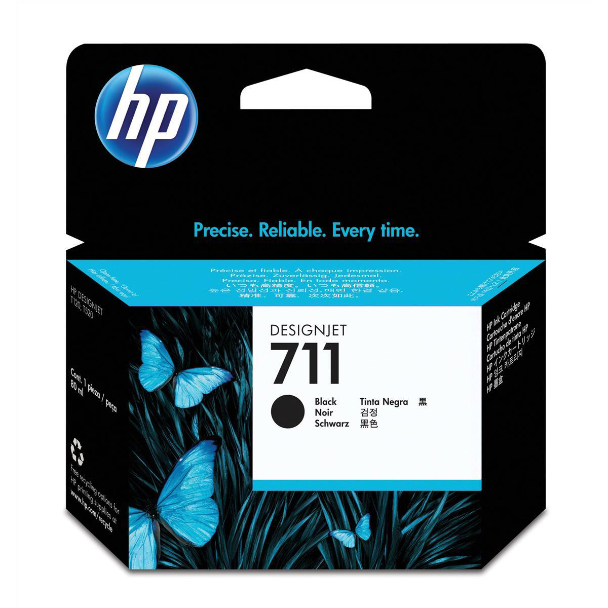 Hewlett Packard [HP] No. 711 Inkjet Cartridge 80ml Black Ref CZ133A