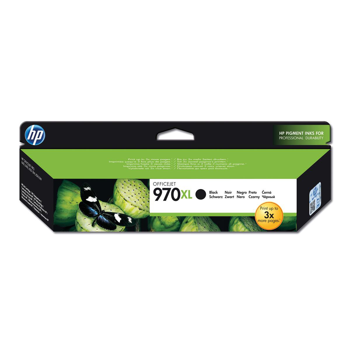 Hewlett Packard [HP] No. 970XL Inkjet Cartridge Page Life 9200pp Black Ref CN625AE