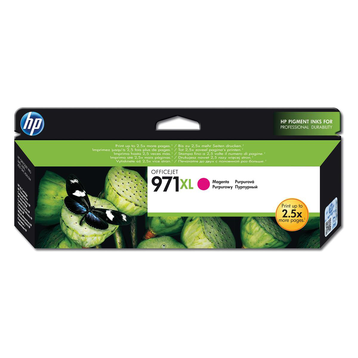 Hewlett Packard HP No.971XL Inkjet Cartridge High Yield Page Life 6600pp 80.5ml Magenta Ref CN627AE