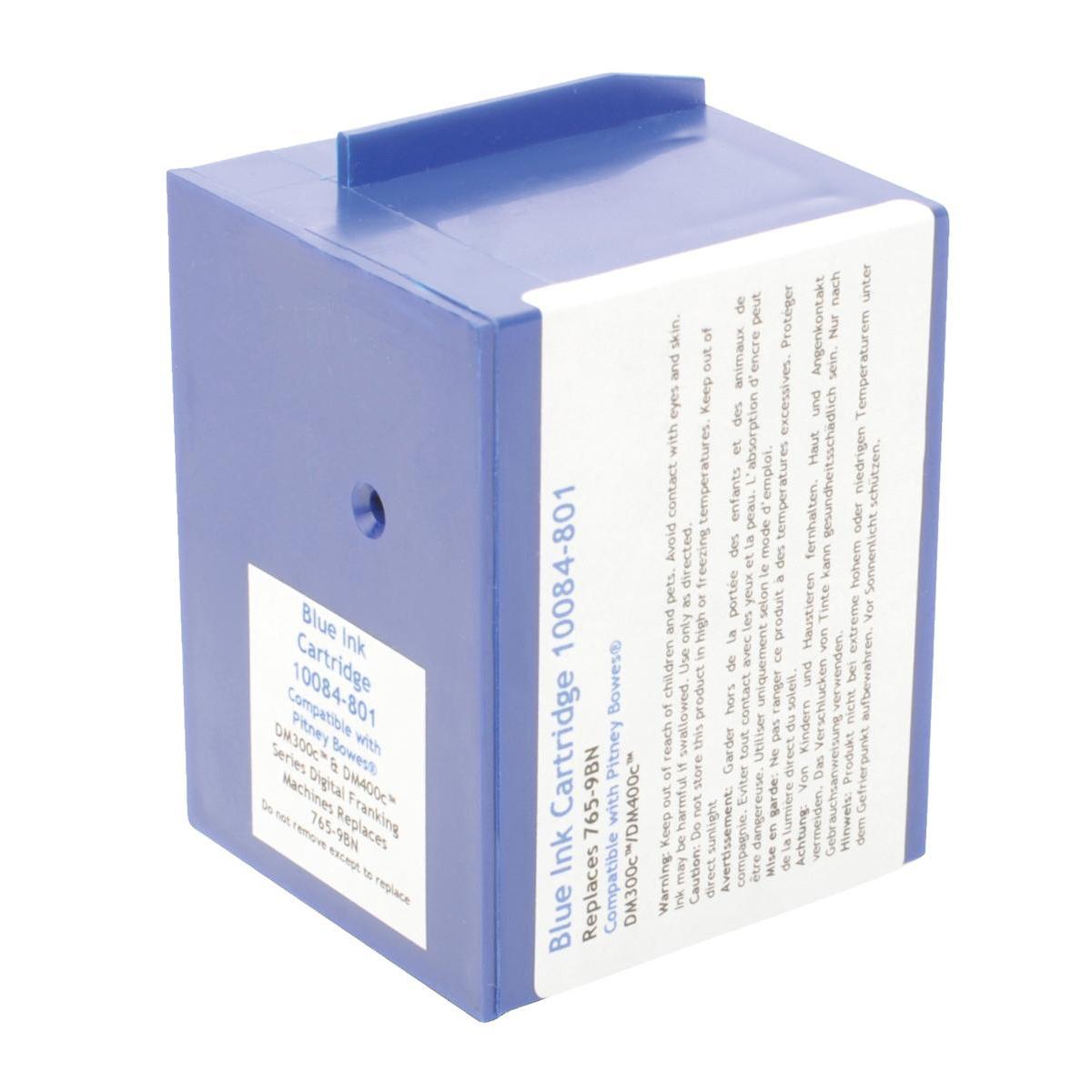 Image for Totalpost Franking Inkjet Cartridge Blue [Pitney Bowes DM300c/400c Equivalent] Ref 10084-801