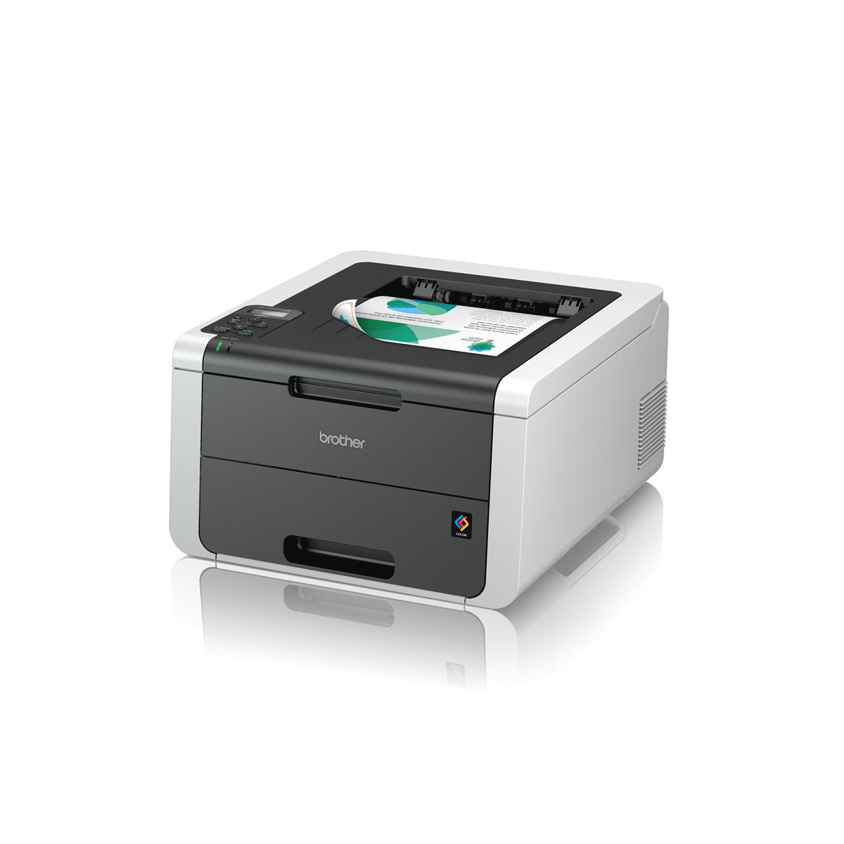 Image for Brother Colour Laser Duplex Printer with Wired and Wi-Fi Network Ref HL3150CDW