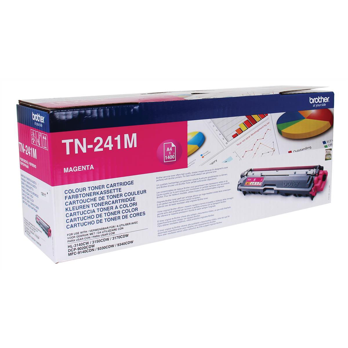 Brother Laser Toner Cartridge Page Life 1400pp Magenta Ref TN241M