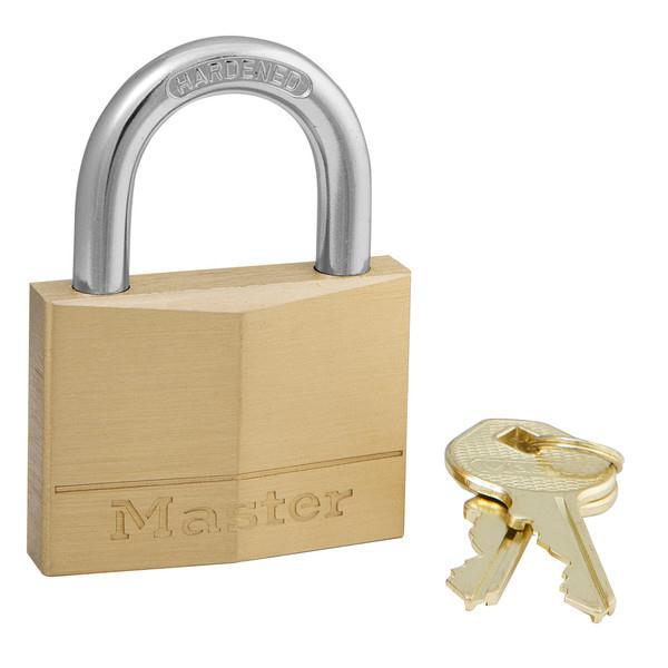 Masterlock Padlock Brass 50mm 150D