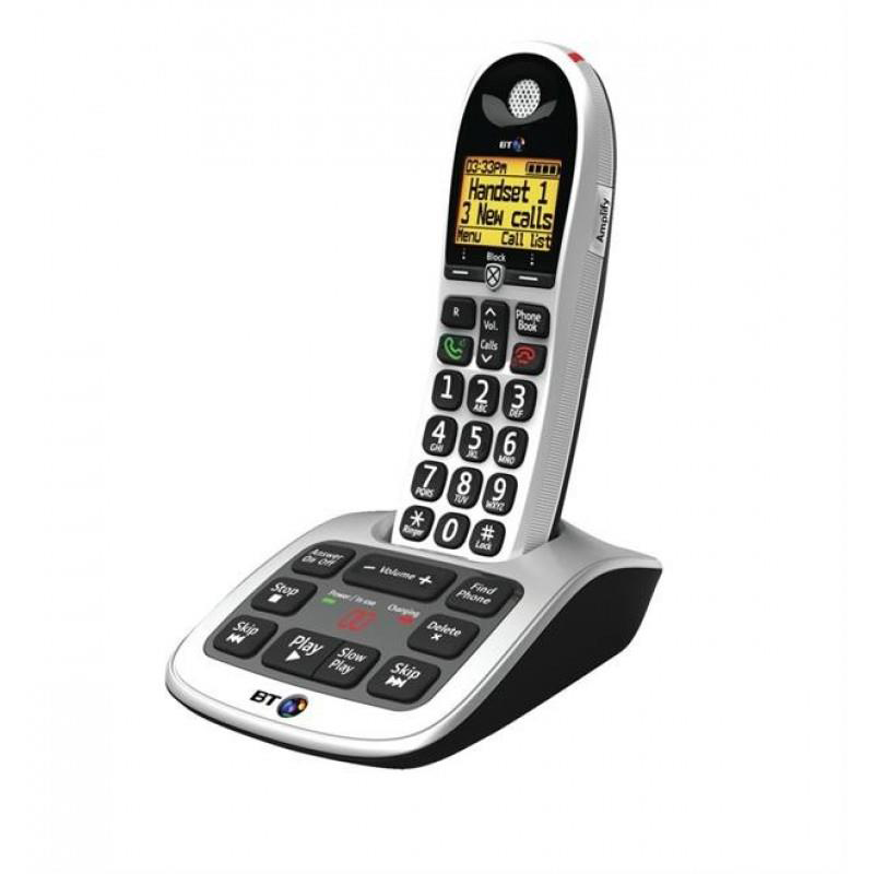 Telephones BT 4600 Single Handset DECT Telephone with Answering Machine Ref 55262