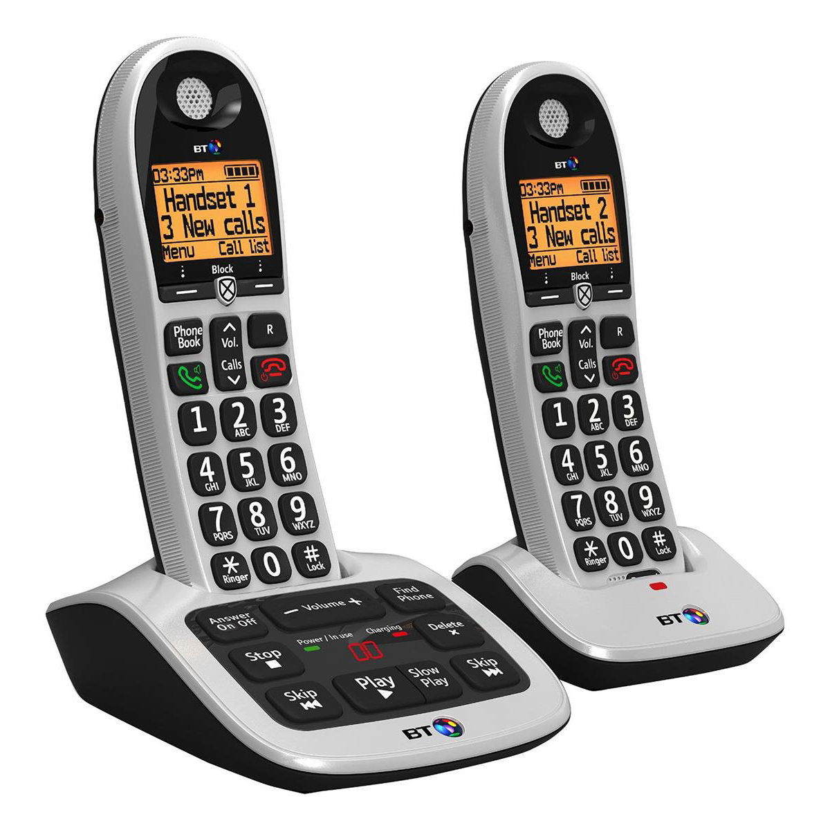 Phone handsets BT 4600 Twin Handset DECT Telephone with Answering Machine Ref 55263