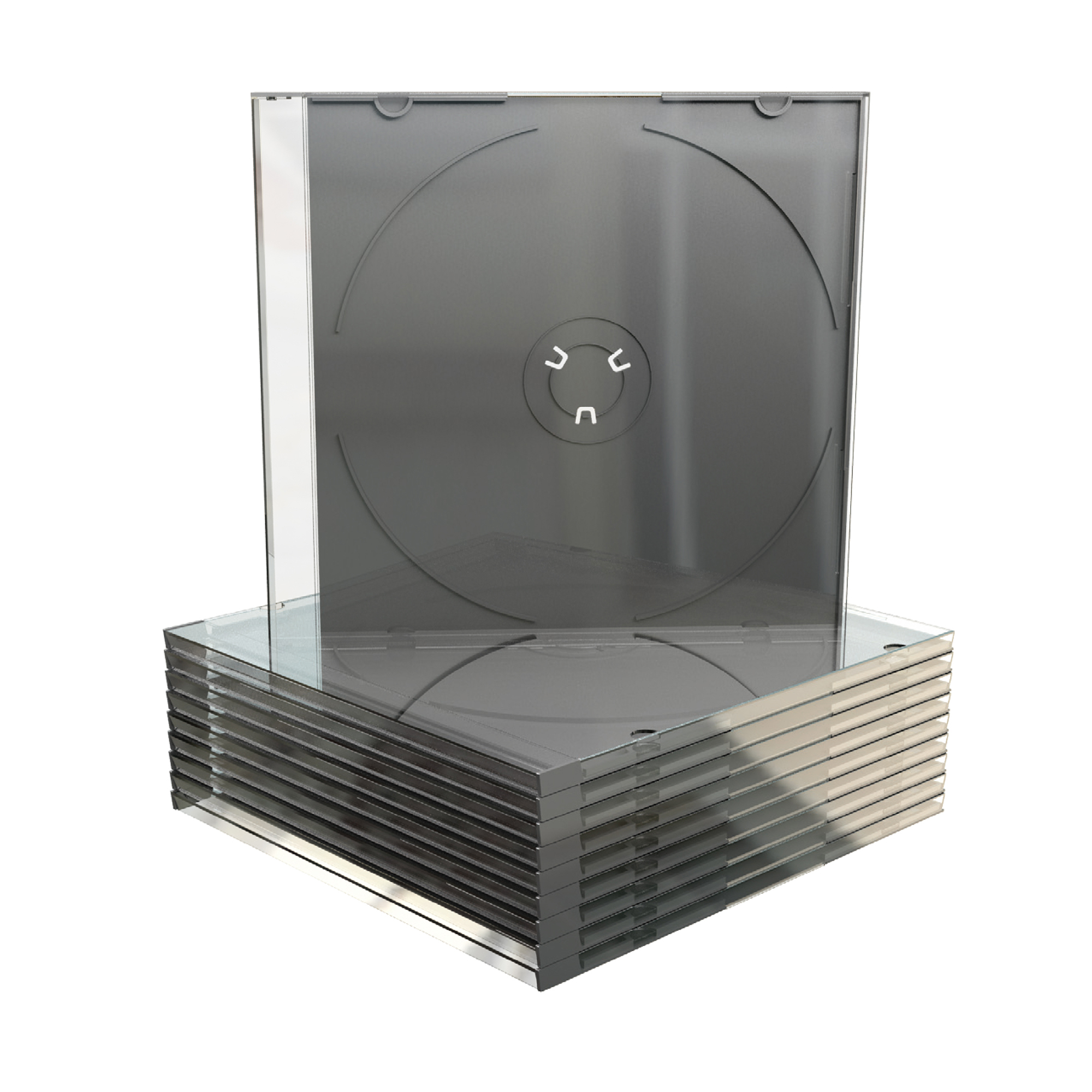 Cases CD Slimline Jewel Case Clear Pack 50