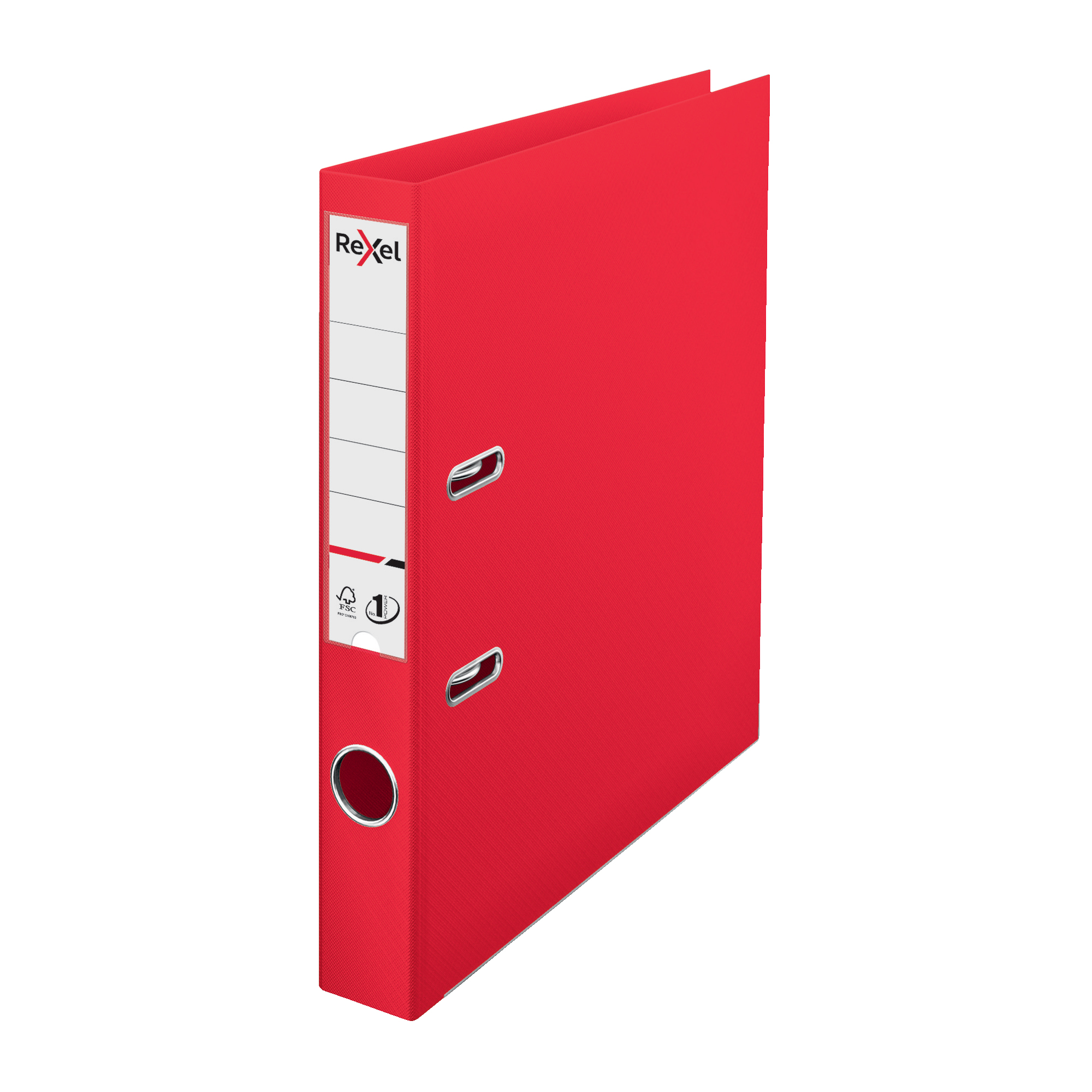 Lever arch file Rexel Choices LArch File PP 50mm A4 Red Ref 2115508