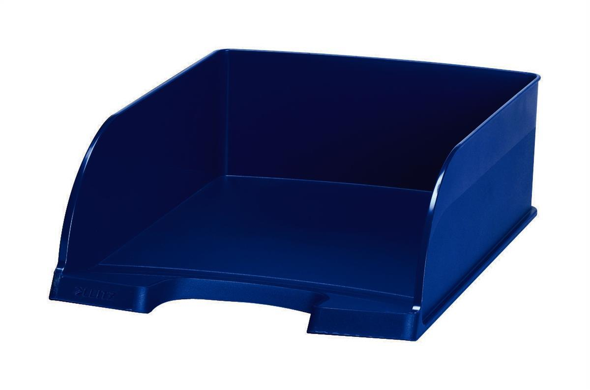 Image for Leitz Letter Tray Jumbo Deep Sided with 2 Label Positions Blue Ref 52330035