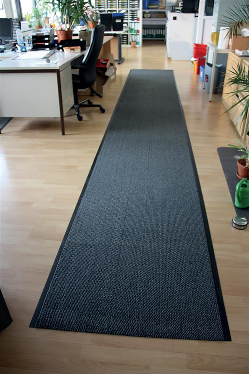 Floortex Mat on Roll Polypropylene Anti Slip Plush Pile 900x6000mm Grey