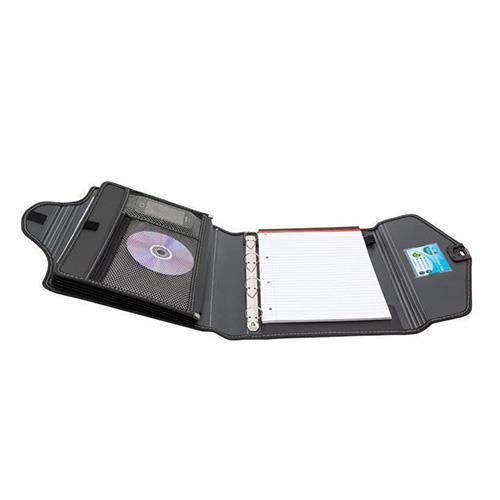 Image for Concord Organiser Folder 6-Part Organiser and 4x 25mm Rings A4 Black Ref 7106-PFL