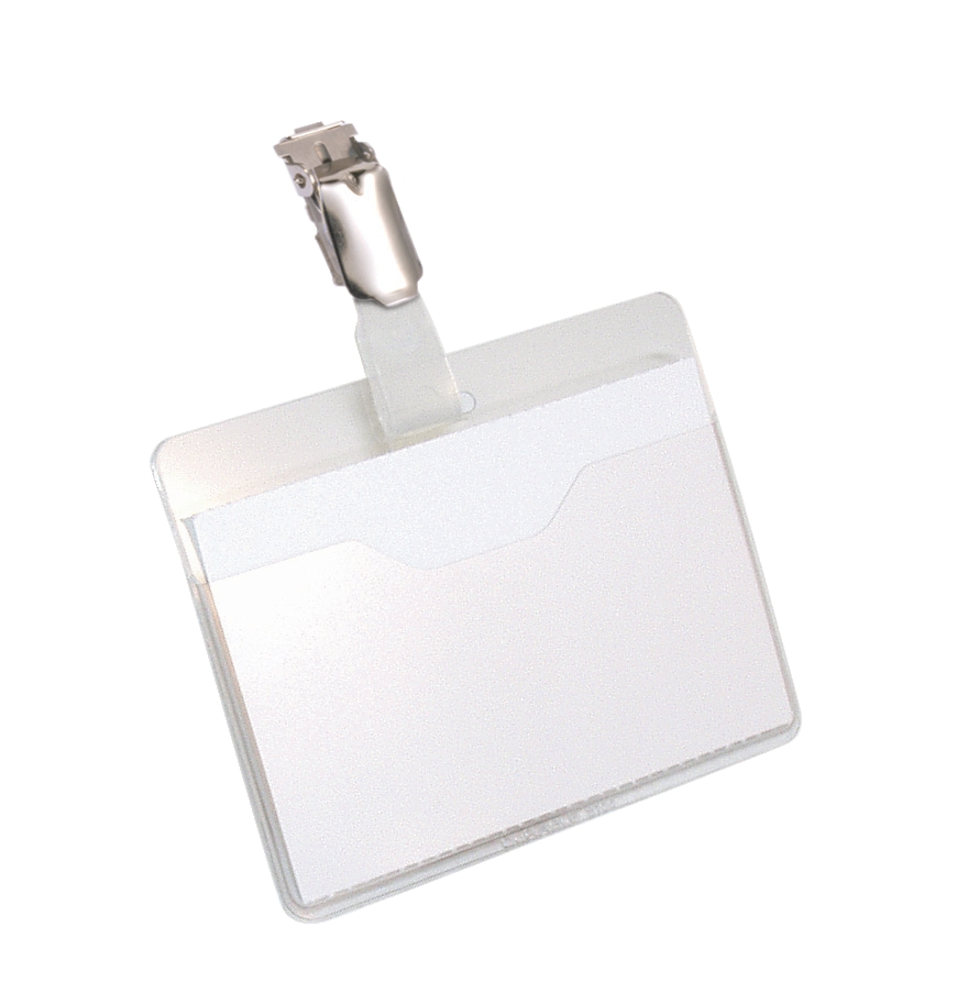 Durable Name Badges Visitors with Rotating Clip W60xH90mm Ref 8107-19 [Pack 25]