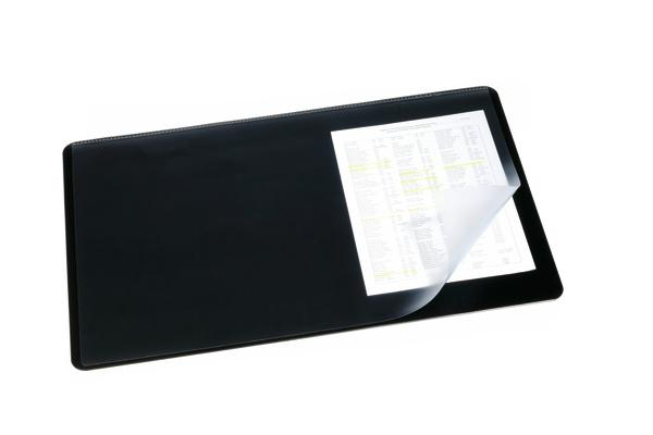 Image for Durable Desk Mat with Transparent Overlay W530xD400mm Black Ref 7202/01