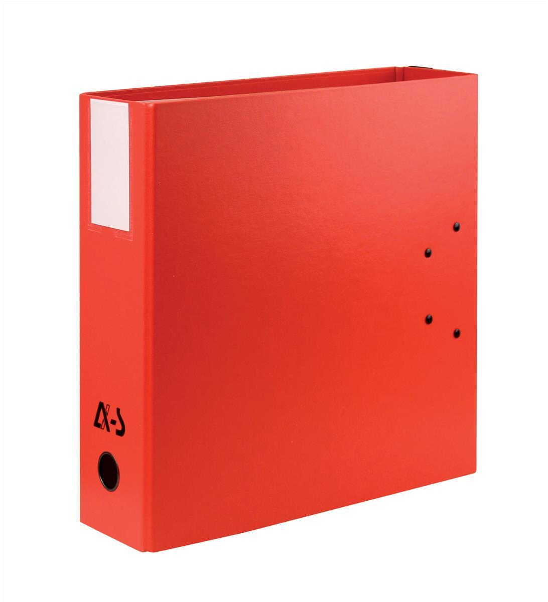 Image for Arianex Double Capacity Lever Arch Files File 2x50mm Spines A4 Red Ref DA4-RD