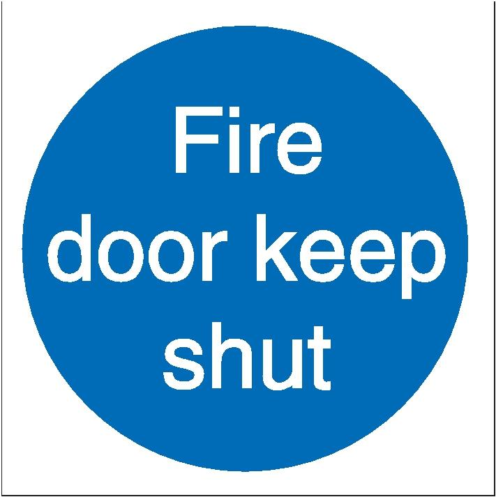 Stewart Superior Fire Door Keep Shut Sav Self Adhesive Sign Ref M014SAV [Pack 5]