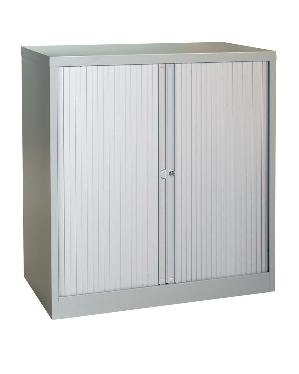 Image for Trexus Tambour Cupboard Steel Side-opening W1000xD470xH1016mm Grey