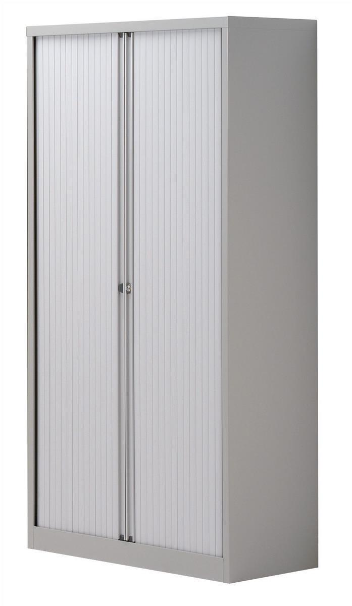 Trexus Tambour Cupboard Steel Side-opening W1000xD470xH1968mm Grey