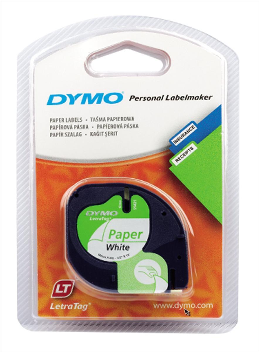 Dymo LT Ppr Tape 12mmx4m Wht/S0721510