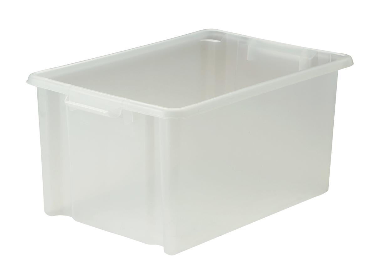Image for Strata Storemaster Crate Jumbo External W560xD385xH280mm 48.5 Litres Translucent Ref HW48