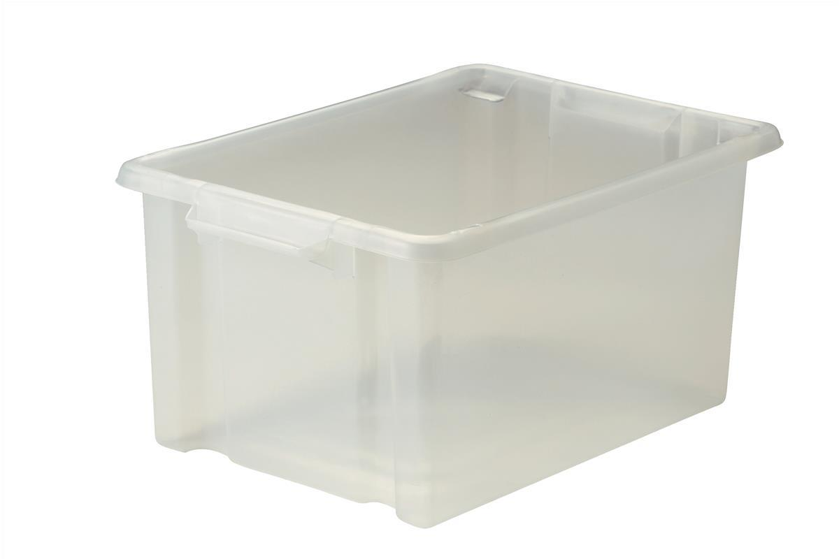 Image for Strata Storemaster Maxi Crate External W470xD340xH240mm 32 Litres Translucent Ref HW46