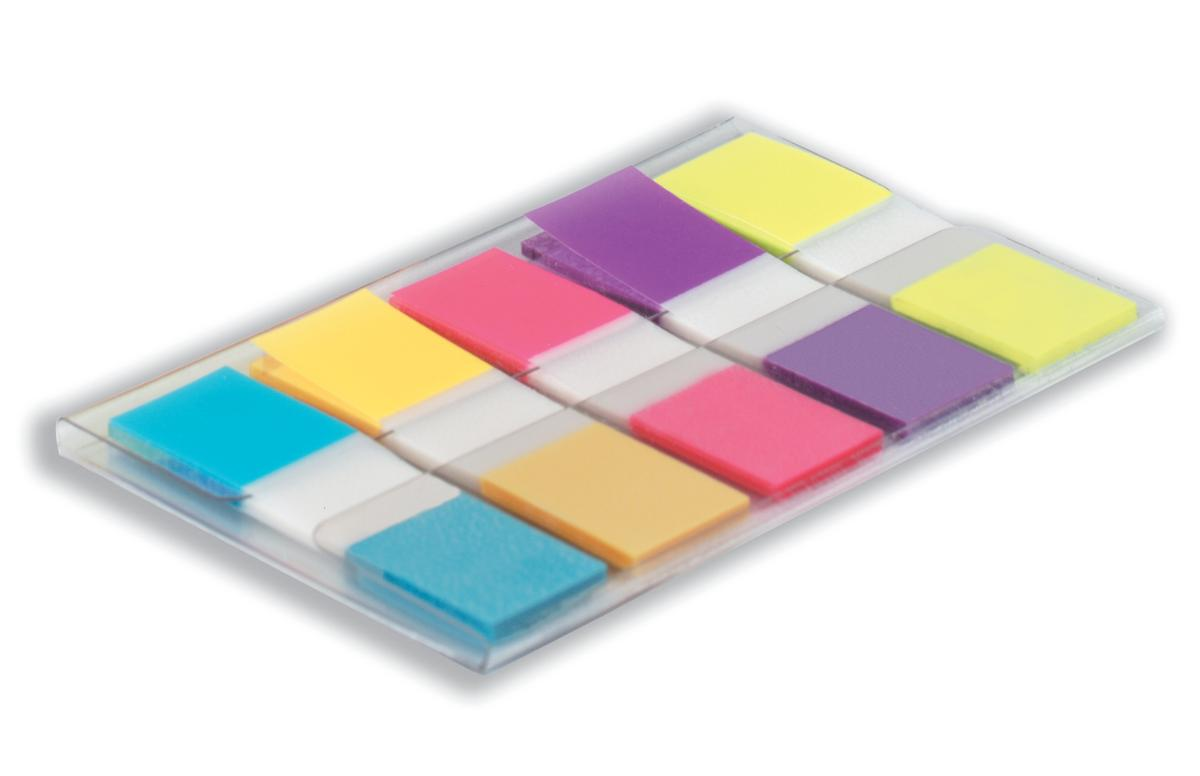 Post-it Index Small Portable Pack W12.5xH43mm Bright Colours Ref 683-5Cb [Pack 100]