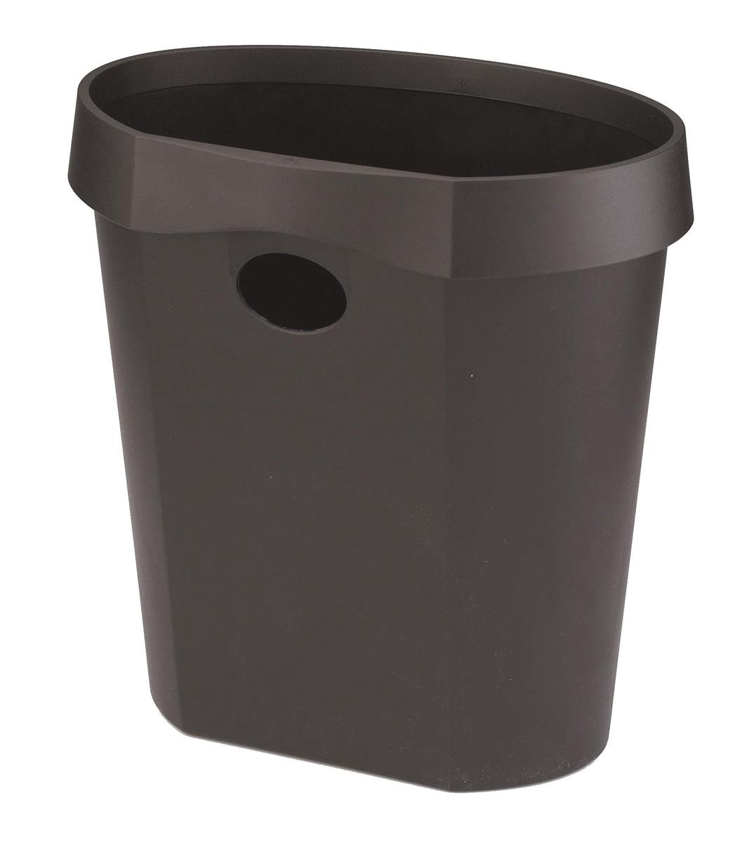 Image for Avery DR500 Waste Bin with Rim Flat Back 18 Litres W350xD250xH340mm Black Ref DR500BLK