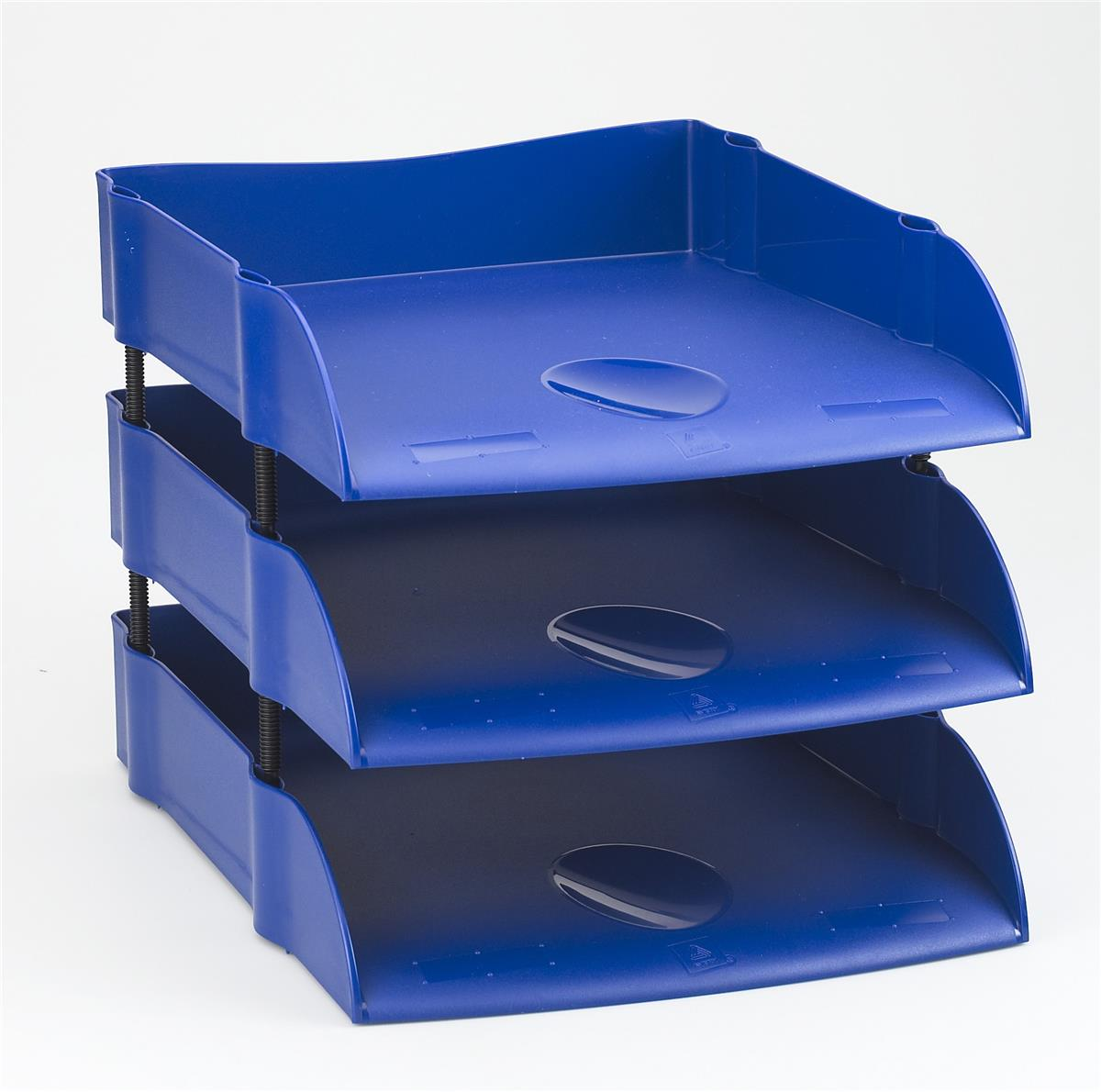 Image for Avery DTR Letter Tray Self-stacking W270xD360xH60mm Blue Ref DR100BLU