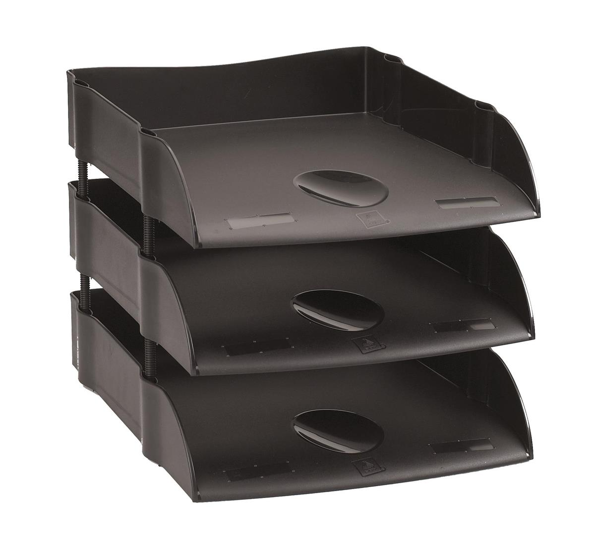 Image for Avery DTR Letter Tray Self-stacking W270xD360xH60mm Black Ref DR100BLK