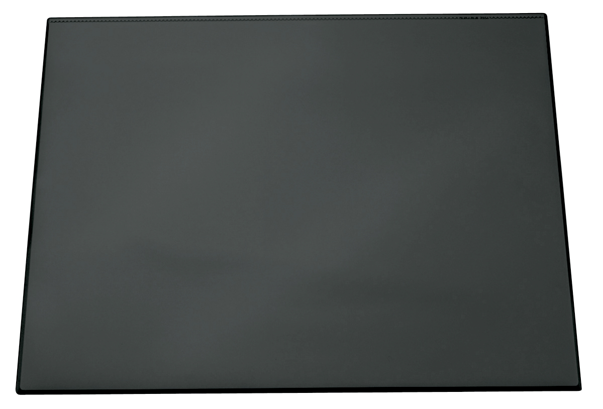 Image for Durable Desk Mat with Transparent Overlay W650xD520mm Black Ref 7203/01