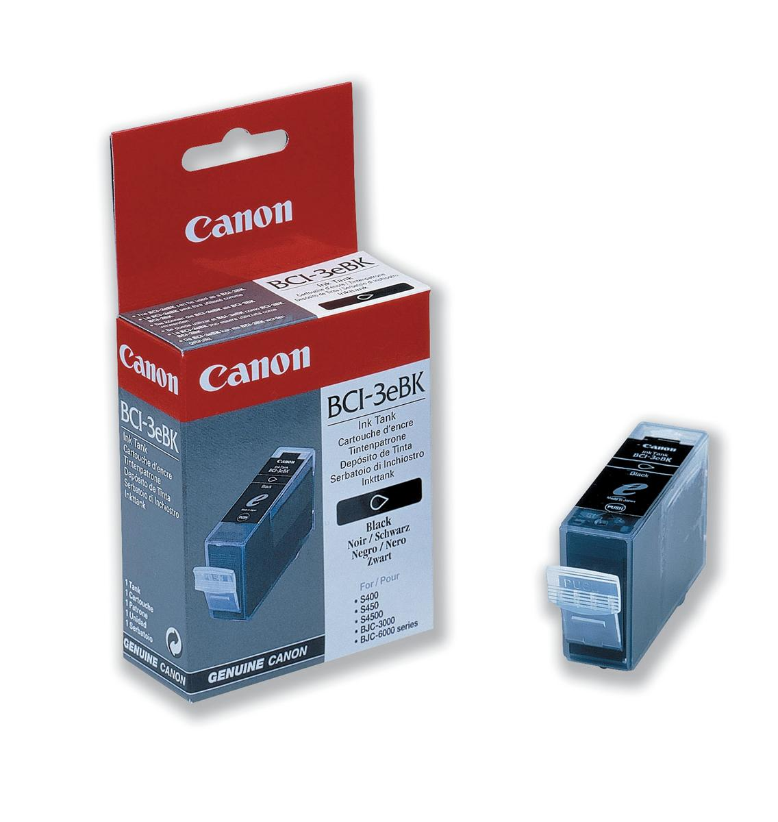 Canon BCI-3EBK Inkjet Cartridge Page Life 1500pp 27ml Black Ref 4479A002